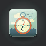 App icons compass Stock Photos