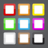 App icons glass set. Glossy button icons. Royalty Free Stock Photography