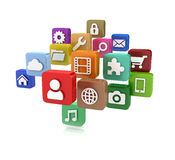 App icons - isolated Royalty Free Stock Photo