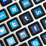 App icons on keyboard Royalty Free Stock Photo