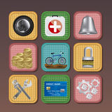 App icons Royalty Free Stock Photo