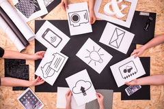 App icons on the paper Royalty Free Stock Photography