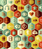 App icons seamless pattern Stock Image