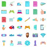 App icons set, cartoon style Royalty Free Stock Photo