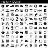 100 app icons set, simple style. 100 app icons set in simple style for any design illustration stock illustration