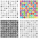 100 app icons set vector variant. 100 app icons set vector in 4 variant for any web design isolated on white Royalty Free Stock Photos