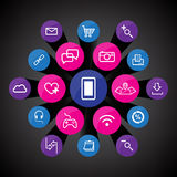 App icons set Royalty Free Stock Photography