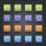 App icons Royalty Free Stock Photos