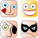 APP-Ikonen-Gesichter Lizenzfreie Stockfotografie