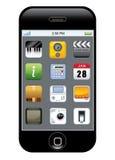 app ikony telefon Zdjęcia Stock