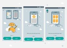 App infographics malplaatje Stock Fotografie