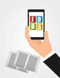 App for a job Stock Photo