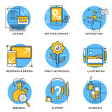 App Line Icon Set Royalty Free Stock Images