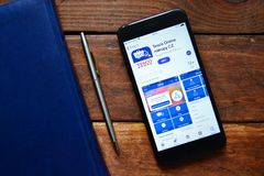 App móvel para coisas pedindo foto de stock