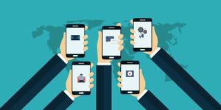 App móvil Imágenes de archivo libres de regalías