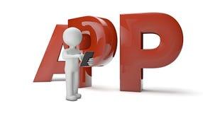 App-man Arkivbild