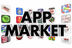 App Market Buy Sell Download New Mobile Software Stock Images
