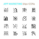 App Marketing pixel perfect icons. Concept illustration Stock Photo