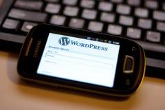 app-mobilwordpress Arkivbilder
