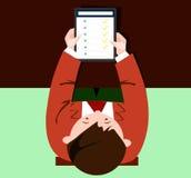 App na pastylce w rękach mężczyzna ilustracji