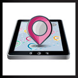 App Navigation in modern flat screen gadget Royalty Free Stock Photo