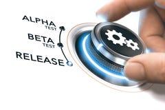 APP oder Softwareentwicklung Stockfoto