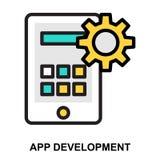 App ontwikkeling vector illustratie