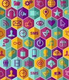 App pictogram vastgesteld patroon Stock Afbeeldingen