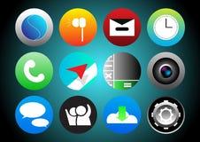 App Pictogram Vastgestelde cirkel Royalty-vrije Stock Afbeelding