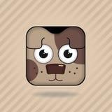 App pictogramhond royalty-vrije illustratie