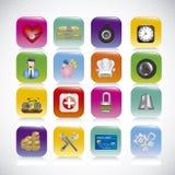 App pictogrammen royalty-vrije illustratie