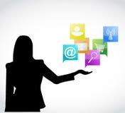 App presentation concept illustration design Stock Photography
