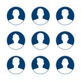 App of profiel de reeks van het gebruikerspictogram Reeks van mensenavatar malplaatje De inzameling van gebruikerspictogrammen Sy stock illustratie