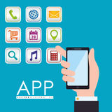 App projekt Fotografia Stock