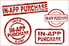 In app purchase ink stamp set Stock Images