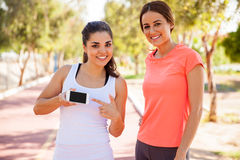 This is an app for runners Royalty Free Stock Photo