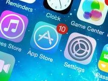 App sklepu nowe aktualizacje Fotografia Stock