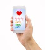 App Smartphone αισθητήρας υγείας Στοκ Φωτογραφίες
