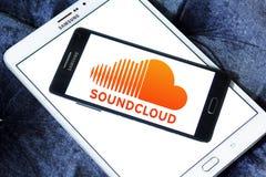 App Soundcloud λογότυπο Στοκ Φωτογραφία