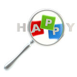 App symbol as the part of happiness word Royalty Free Stock Photography