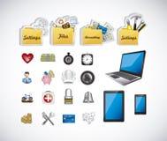 App-symboler vektor illustrationer
