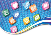 App-symbolsbegrepp Arkivfoton