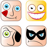 App-symbolsframsidor Royaltyfri Fotografi