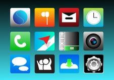 App-symbolsuppsättning Fotografering för Bildbyråer