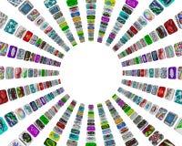 app tła guzików kurendy wzoru biel