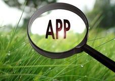 App toepassing stock afbeeldingen