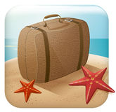 App Travel Icon With Suitcase Stock Photos