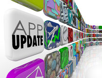 App Updates 3d Tiles Applications Programs Software Upgrade Patc Stock Images