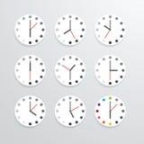 App van het klok vlakke pictogram vectorillustratie Royalty-vrije Stock Afbeeldingen