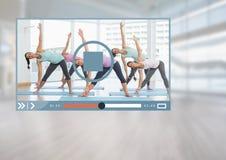 App video ικανότητας άσκησης διεπαφή Στοκ Φωτογραφία